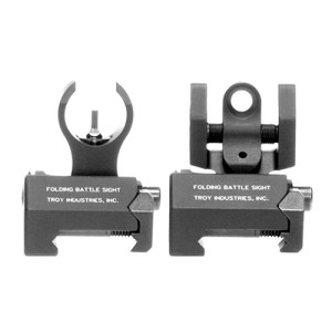 Troy Industries Micro HK Front & Rear Folding Sights Black Set SSIG-IAR-SMBT-00 мушка и целик на планку