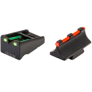 Truglo RifleShotgun Sight Set - Rem, RedGreen комплект мушка целик оптиволокно