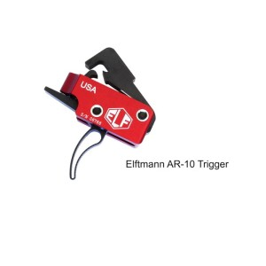 Elftmann 308 Curved Trigger Group Drop-In Adjustable Skeletonized 2.7-4lbs AR10 AR15 усм