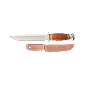 Ka-Bar-1236-Leather-Handled-Bowie-нож