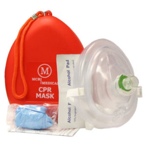 MCR Medical Adult Child Size CPR Pocket Resuscitator Rescue Face-Mask with 0xygen Port маска для вентиляции лёгких (дети, подростки)